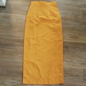 2/$10 Very Cute Faux Wrap Maxi Skirt